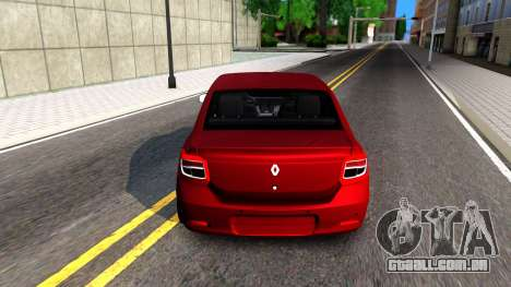 Renault Symbol 2013 para GTA San Andreas traseira esquerda vista