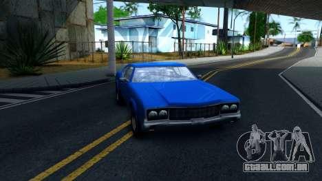 VC Xbox Sabre para GTA San Andreas vista traseira