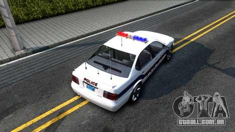 Declasse Merit Metropolitan Police 2005 para GTA San Andreas vista traseira