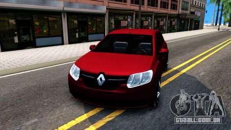 Renault Symbol 2013 para GTA San Andreas vista traseira