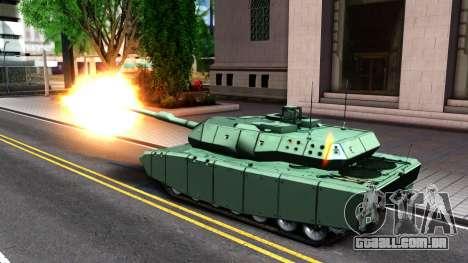 Leopard 2A7 para GTA San Andreas vista interior