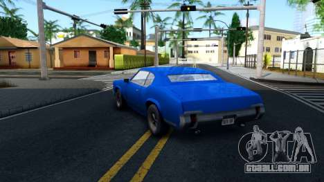 VC Xbox Sabre para GTA San Andreas traseira esquerda vista