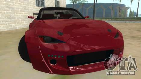 Mazda MX-5 2016 para GTA San Andreas vista traseira