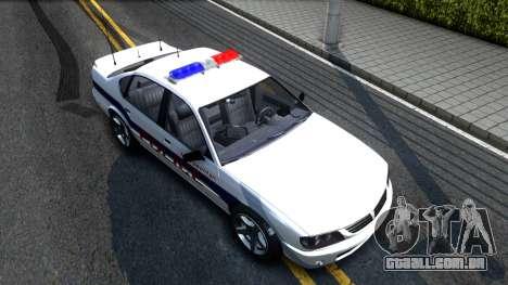 Declasse Merit Metropolitan Police 2005 para GTA San Andreas vista direita