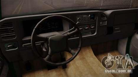 Chevrolet Suburban GMT400 1998 para vista lateral GTA San Andreas