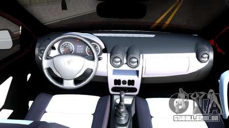 Renault Symbol 2013 para GTA San Andreas vista interior