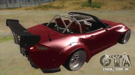 Mazda MX-5 2016 para GTA San Andreas vista direita