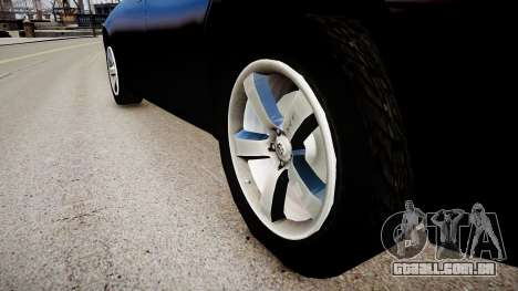 Dodge Charger Unmarked para GTA 4 vista de volta