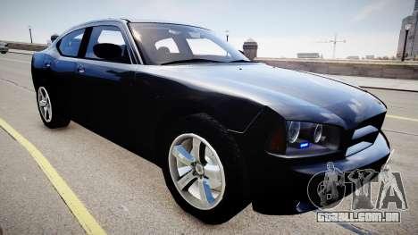Dodge Charger Unmarked para GTA 4 vista direita