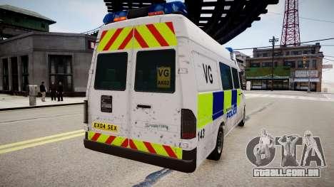 Mercedes-Benz Sprinter Police para GTA 4