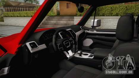 Jeep Renegade 2017 para GTA San Andreas vista interior