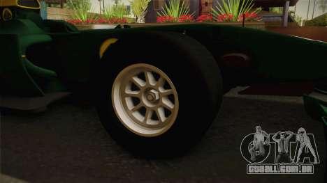 F1 Lotus T125 2011 v4 para GTA San Andreas