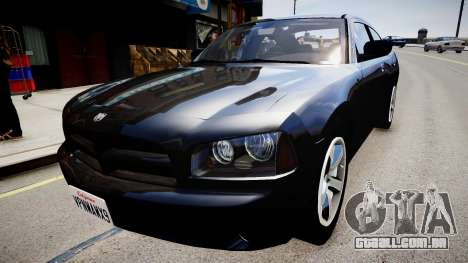 Dodge Charger Unmarked para GTA 4