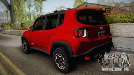 Jeep Renegade 2017 para GTA San Andreas esquerda vista