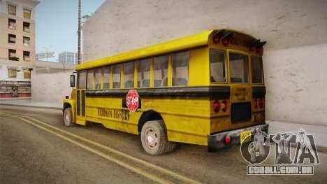 Driver Parallel Lines - School Bus para GTA San Andreas