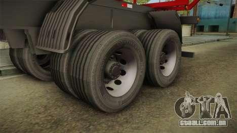 Double Trailer Timber Brasil v1 para GTA San Andreas vista traseira