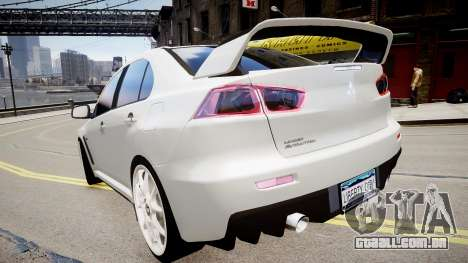 Mitsubishi Evolution X 2009 v2.0 para GTA 4