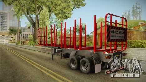 Double Trailer Timber Brasil v1 para GTA San Andreas traseira esquerda vista