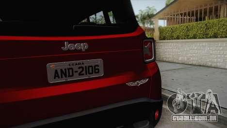 Jeep Renegade 2017 para GTA San Andreas vista traseira