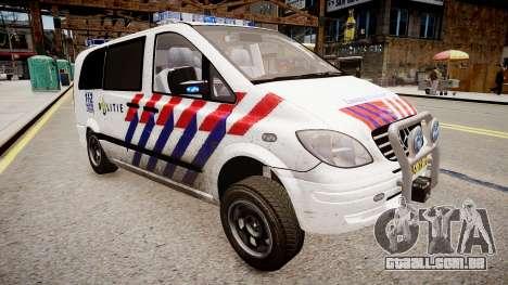 Mercedes-Benz Vito 115 CDI Dutch Police para GTA 4