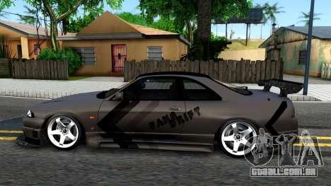 Nissan Skyline GT-R33 Fans Drift para GTA San Andreas