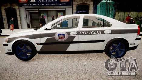 Latvian Police Volvo S60R para GTA 4