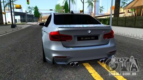 BMW M3 F80 30 Jahre 2016 para GTA San Andreas