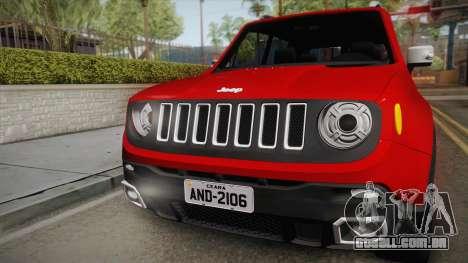 Jeep Renegade 2017 para GTA San Andreas vista direita