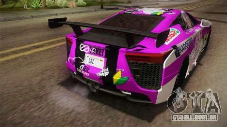 Lexus LFA Emilia The Purple of ReZero para GTA San Andreas