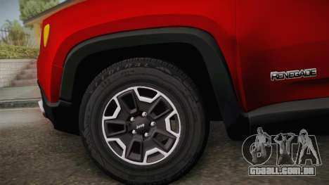 Jeep Renegade 2017 para GTA San Andreas traseira esquerda vista