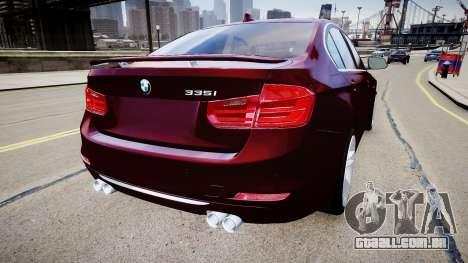 BMW 335i 2013 para GTA 4