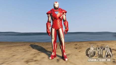 Iron Man Silver Centurion para GTA 5