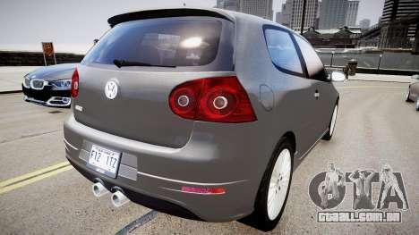 Volkswagen Golf R32 v1 para GTA 4