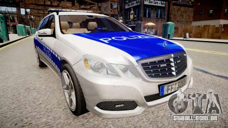 German Police Mercedes Benz E350 para GTA 4