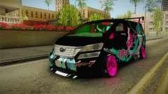 Toyota Vellfire - Miku Hatsune Itasha