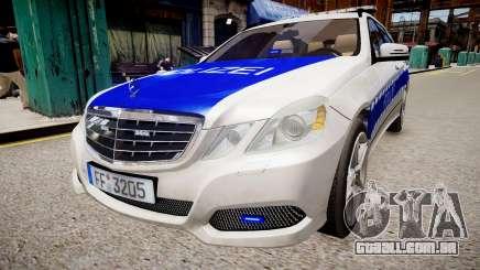 German Police Mercedes Benz E350 para GTA 4