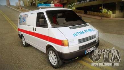 Volkswagen T4 Ambulância para GTA San Andreas