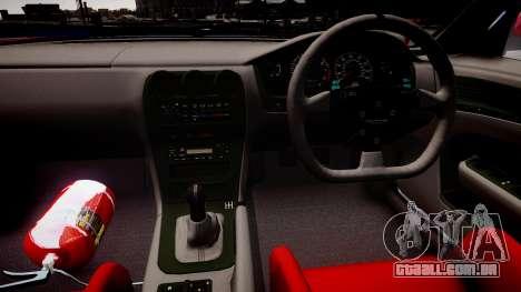 Nissan Silvia S14 para GTA 4 vista interior