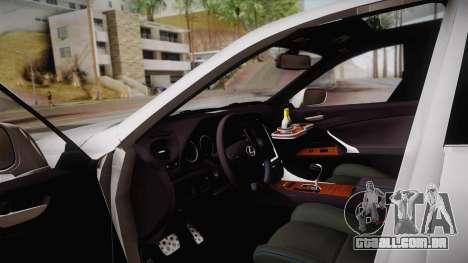 Lexus IS F 2009 Hachiraito para GTA San Andreas