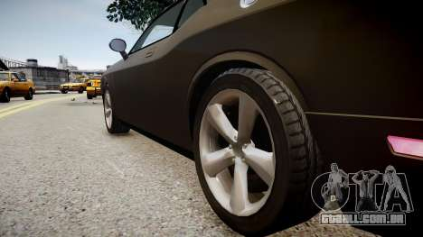 Dodge Challenger SRT8 2010 para GTA 4 vista de volta