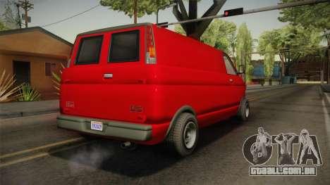 GTA 5 Declasse Burrito Civilian para GTA San Andreas