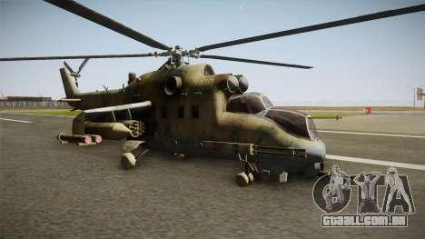 CoD Series - Mi-24D Hind Woodland para GTA San Andreas