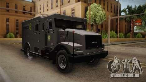 GTA 5 Brute Stockade para GTA San Andreas