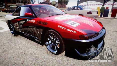 Nissan Silvia S14 para GTA 4 traseira esquerda vista