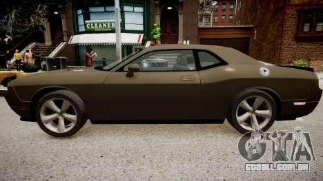 Dodge Challenger SRT8 2010 para GTA 4 traseira esquerda vista