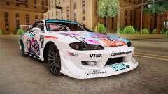 Nissan Silvia S15 Kurousagi Itasha para GTA San Andreas
