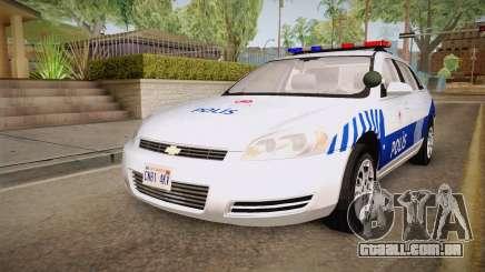 Chevrolet Impala Turkish Police para GTA San Andreas