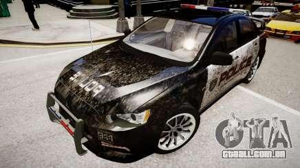 Mitsubishi Evo-IX Cop para GTA 4