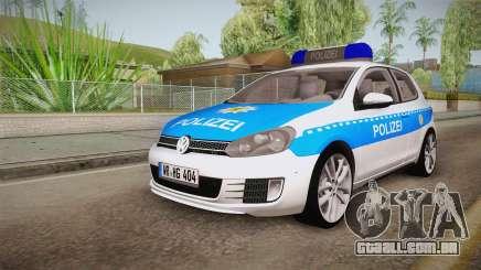 Volkswagen Golf Mk6 Police para GTA San Andreas