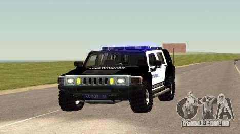 Hummer H2 Polícia V1 para GTA San Andreas